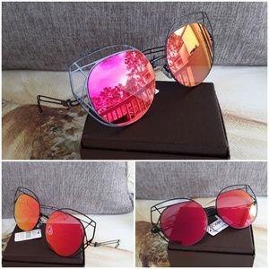 Brand new 2019 cat eye mirror lens sunglasses